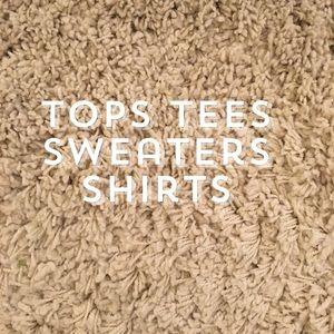 Tops. Tees. Sweaters.